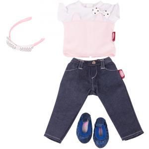 Gotz - 3402846 - Ensemble Denim et Tee-Shirt Chat pour poupées de 45-50cm (342466)