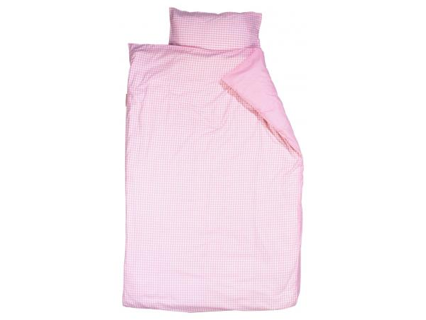 Taftan housse de couette checks small big pink 120 x 150 for Housse de couette 75 x 120