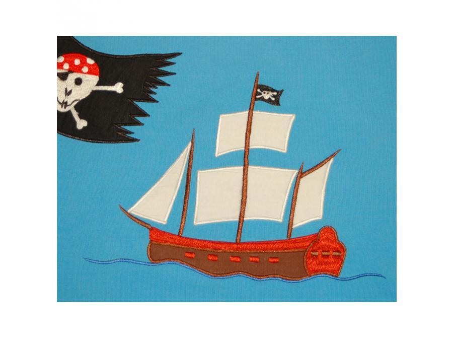 taftan housse de couette pirates blue 140 x 200. Black Bedroom Furniture Sets. Home Design Ideas