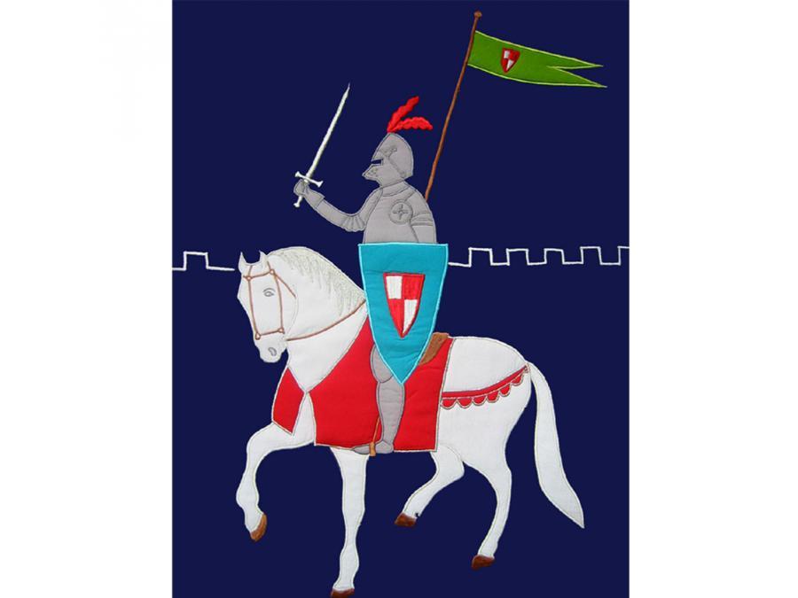 taftan housse de couette knights dark blue 120 x 150. Black Bedroom Furniture Sets. Home Design Ideas