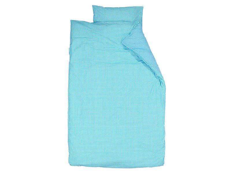 taftan housse de couette checks small big turquoise 120 x 150. Black Bedroom Furniture Sets. Home Design Ideas