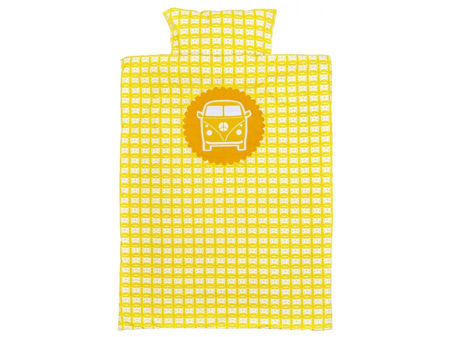 Taftan housse de couette little van yellow 100 x 135 - Housse de couette 100x135 ...