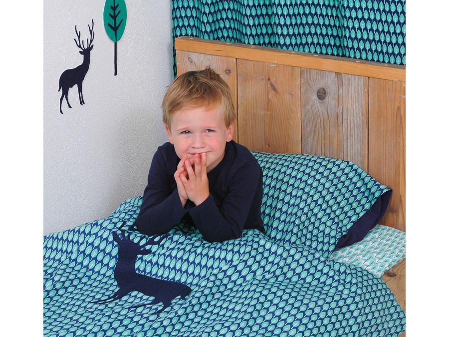 taftan housse de couette blue deer blue green 120 x 150. Black Bedroom Furniture Sets. Home Design Ideas