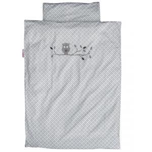 Taftan - DL-710 - Housse de couette little owl grey 140 x 200 (342738)