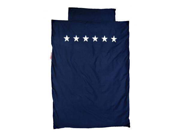 Housse de couette stars silver dark blue 140 x 200