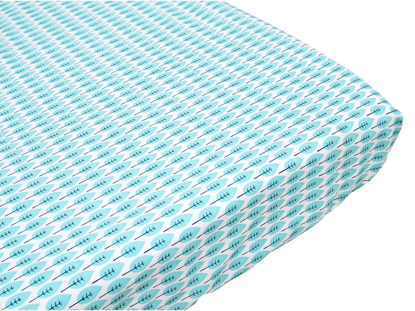 Taftan drap housse blue deer blue green 70 x 150 for Drap housse 70x150