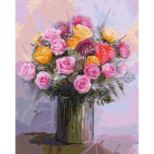 Schipper - 609130749 - Peinture aux numeros - Bunch of Roses - Taille 40 x 50 cm (344244)