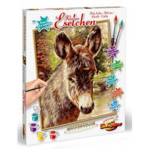 Schipper - 609240743 - Peinture aux numeros - Baby donkey - Taille 40 x 50 cm (344250)