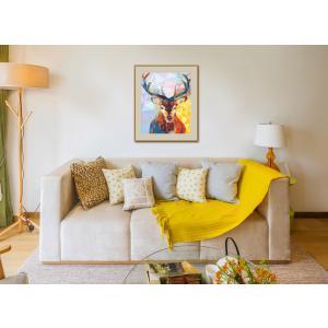 Schipper - 609460737 - Peinture aux numeros - Polygon-Art Stag - Taille 40 x 50 cm (344256)