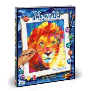 Schipper - 609460738 - Peinture aux numeros - Polygon-Art Lion head - Taille 40 x 50 cm (344258)