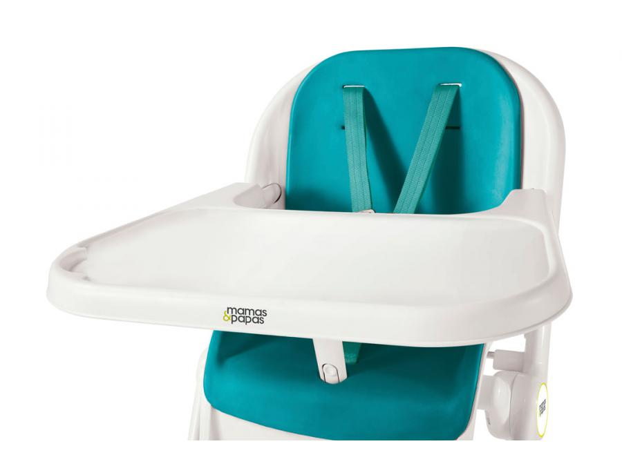 Mamas and papas chaise haute pixi teal - Chaise haute mamas and papas ...
