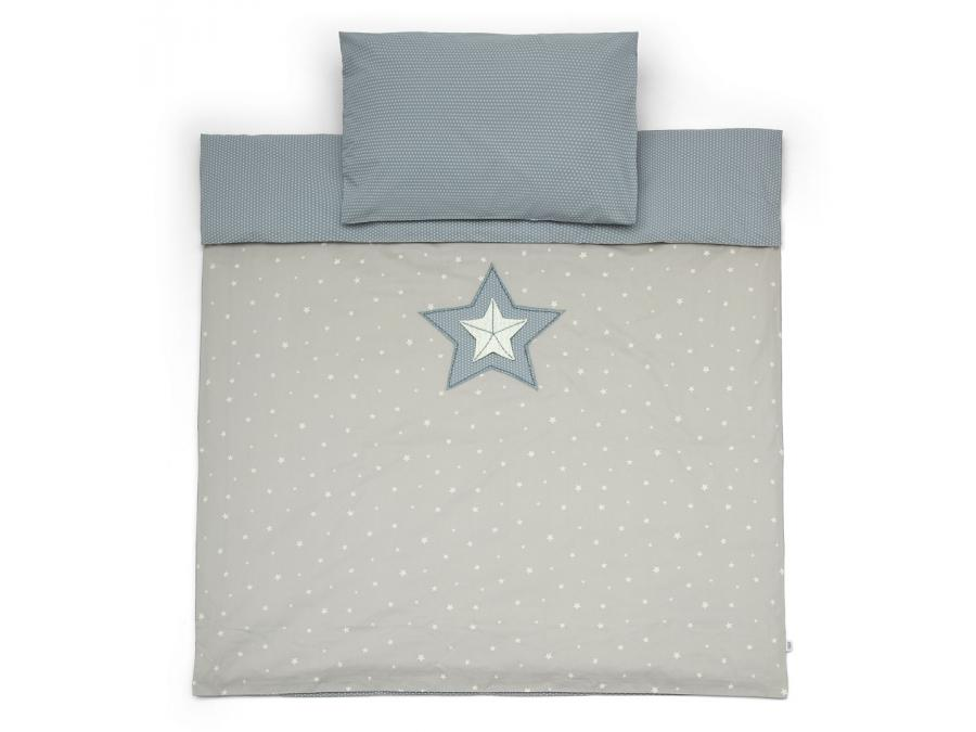 Mamas And Papas Cot Bed Duvet Cover Amp Pc M Amp B Blue New