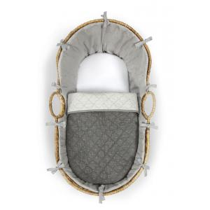 Mamas and Papas - 7700AF700 - Moses Basket - Home Grey Sprinkle Grey (346072)