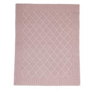 Mamas and Papas - 392490900 - Couverture tricot Dusky rose (346092)