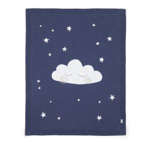 Mamas and Papas - 7883K3200 - Couverture tricot nuage marine (346104)