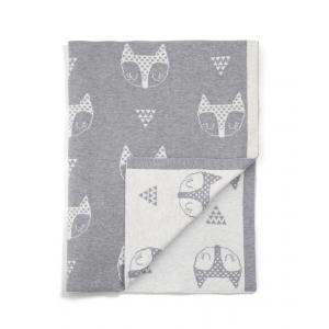 Mamas and Papas - 7883T9102 - Couverture tricot renard gris (346106)