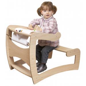 JB Bois - 514415 - Bureau contemporain en bois naturel + 0,38 € écotaxe mobilier (346922)