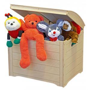 JB Bois - 417714 - Coffre à jouets en bois forme malle corsaire (346932)