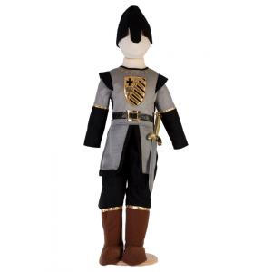 Travis - MS6 - Costume Medieval Soldier grey/black - 6 à 8 ans (347260)