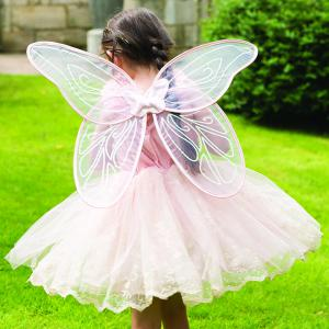 Travis - VIF6 - Costume Vintage Fairy with Wings peach - 6 à 8 ans (347442)