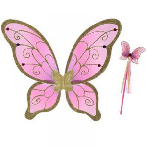 Travis - CGWW - Wings - cerise/gold wings and wand set cerise/gold/pink -3 ans et plus (347516)