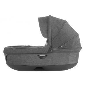 Stokke - 282301 - Nacelle complète : Base grise - habillage et capote Noir Mélange pour poussette Trailz (348720)