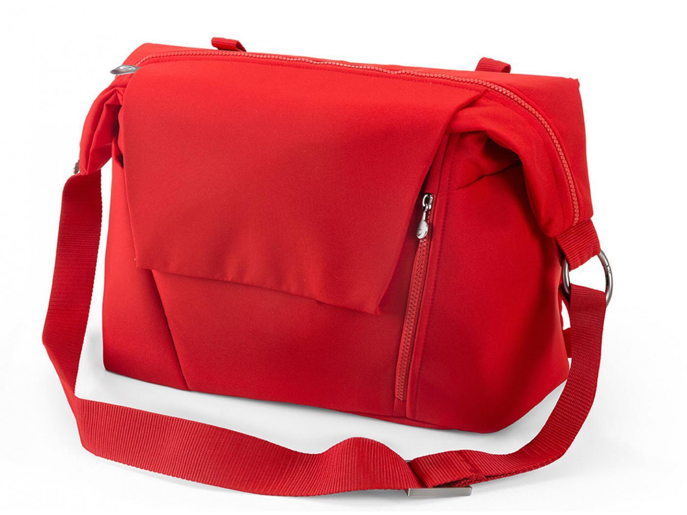 stokke nouveau sac langer rouge pour poussette stokke. Black Bedroom Furniture Sets. Home Design Ideas