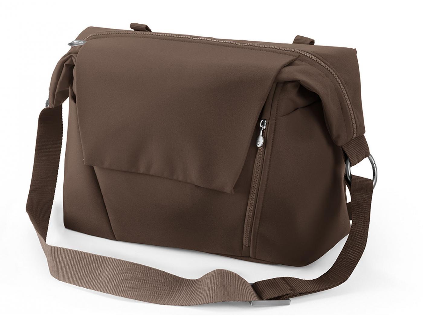 stokke nouveau sac langer marron pour poussette stokke avec deux modes de portage. Black Bedroom Furniture Sets. Home Design Ideas