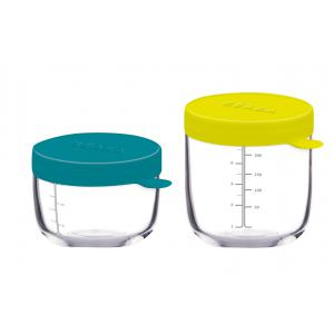 Beaba - 912552 - Coffret 2 Portions verre 150 ml blue et 250 ml neon (348932)