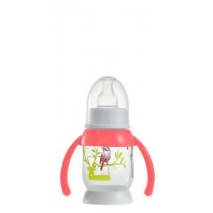Beaba - 911572 - Biberon demi-lune Bunny poignée pink 120 ml (349110)