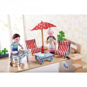 Haba - 303012 - Little Friends – Meubles pour maison de poupée Terrasse (350156)