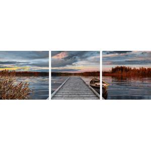 Schipper - 609470754 - Peinture aux numéros - Sunrise by the lake - Taille 40x120 cm (350222)
