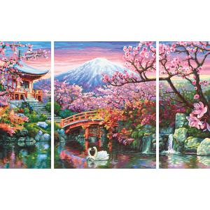 Schipper - 609260751 - Peinture aux numéros - Cherry blooming in Japan - Taille 50 x 80 cm (350224)