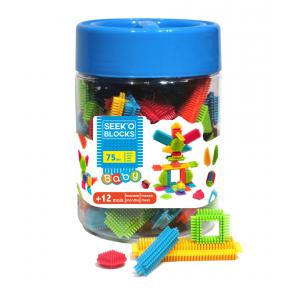 Seek'o Block - BA2001B - Baril Bleu 75 Pcs Baby (350346)