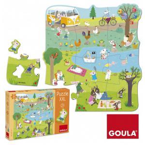 Goula - 53427 - Puzzle XXL une journée à la campagne (351588)
