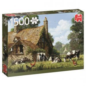 Jumbo - 618579 - Puzzle 1500 pièces - Vaches à la ferme (351776)