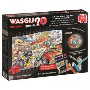 Jumbo - 619132 - Puzzle 1000 pièces - Wasgij Imagine Si on navait pas inventé la roue ! (352024)