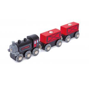 Hape - E3717 - Train de marchandises à vapeur (352752)