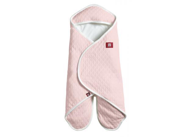Couverture babynomade en fleur de coton légère rose poudré - taille 0-6 mois