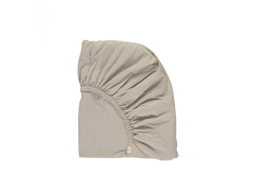 camomile london drap housse imprim keiko gris clair. Black Bedroom Furniture Sets. Home Design Ideas