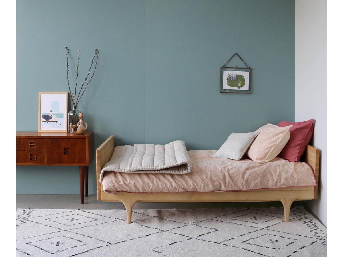 camomile london housse de couette imprim e keiko p che rose 120x150 cm. Black Bedroom Furniture Sets. Home Design Ideas
