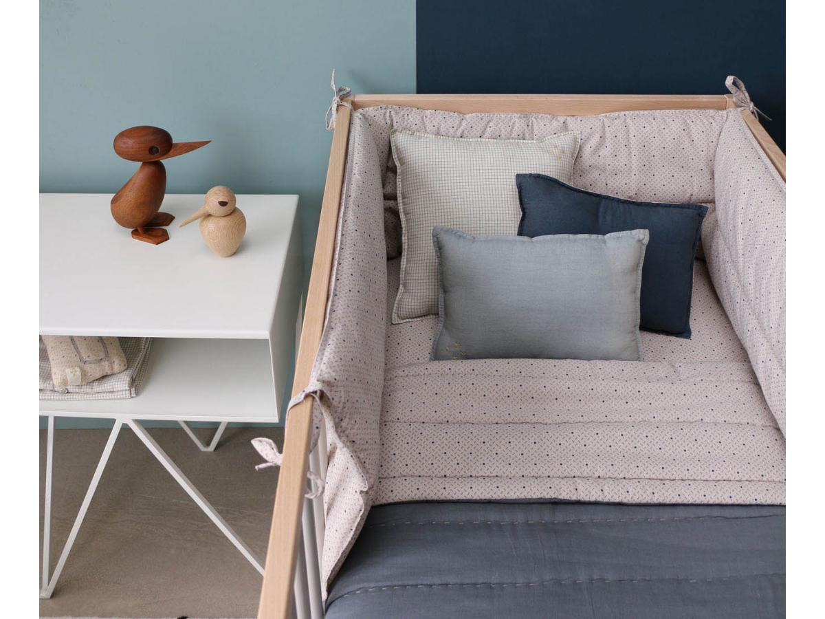 Camomile london drap housse gris clair 70x140 cm for Draps housse 70x140