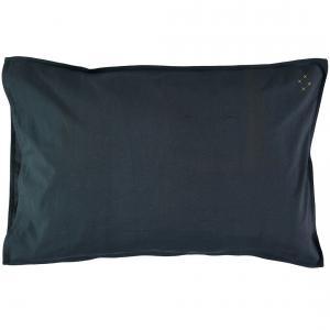 Camomile London - C07-1INK - Taie d'oreiller bleu encre - 60 x 40 cm (353232)