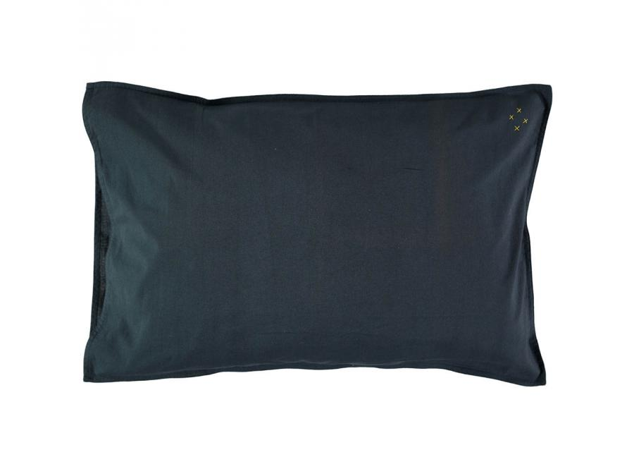 camomile london taie d 39 oreiller bleu encre 60 x 40 cm. Black Bedroom Furniture Sets. Home Design Ideas
