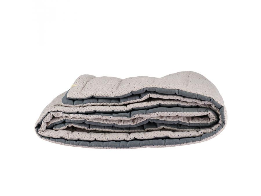 camomile london couverture matelass e brod e main r versible keiko gris clair. Black Bedroom Furniture Sets. Home Design Ideas