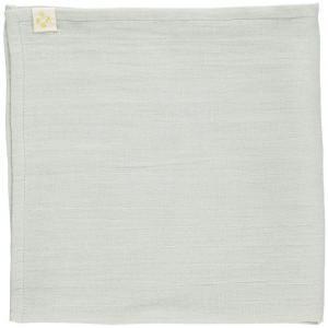 Camomile London - T1-CBBGA - Lot de 3 langes chambray - gris bleu - aqua et son sac 56x56 cm (353298)