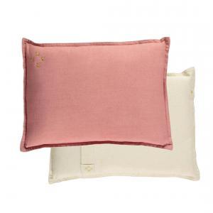 Camomile London - C09RP - coussin garnie bicolore rose/parchment (353312)