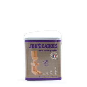 Jouecabois - 760010 - Jeu de construction Jouécabois des tout-petits 100 pièces (353450)