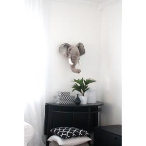 Wild and Soft - WS0033 - Trophée en peluche George l'éléphant (353536)