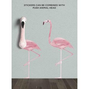 Wild and Soft - WS4003 - Sticker mural flamant rose (353612)